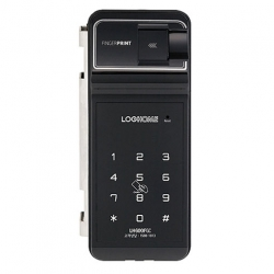 Khóa cửa kính EVERNET LH600FG-SN (vân tay – thẻ – mã số)