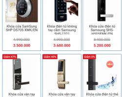 Bảng giá khóa cửa vân tay Samsung tốt nhất