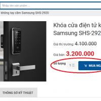 Cách đặt mua online khóa cửa vân tay, khóa điện tử hiệu quả nhất