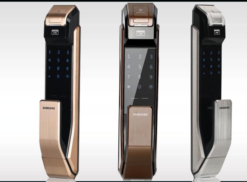 Khóa cửa điện tử Samsung chính hãng giá rẻ tại Hà Nội