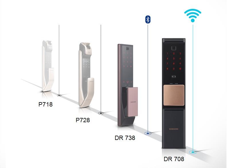 Khóa điện tử kết nối wifi samsung DR708