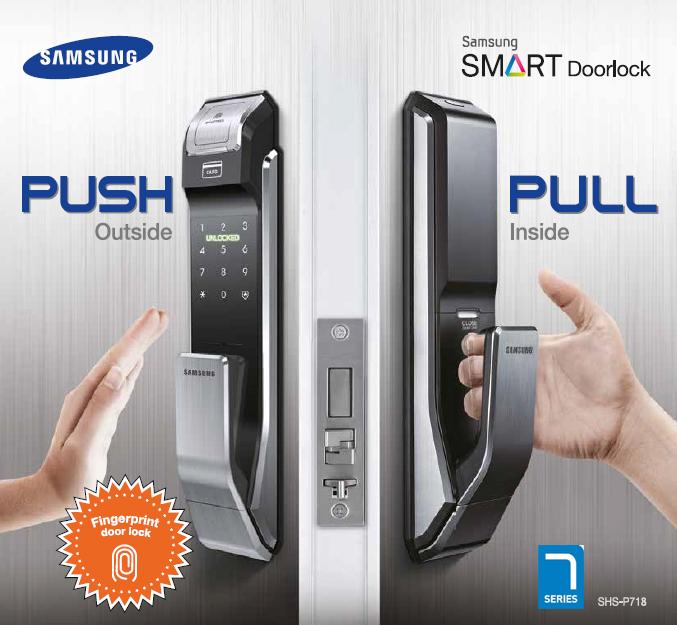 Sản phẩm khóa cửa Samsung SDS chính hãng với mã số chủ cao cấp