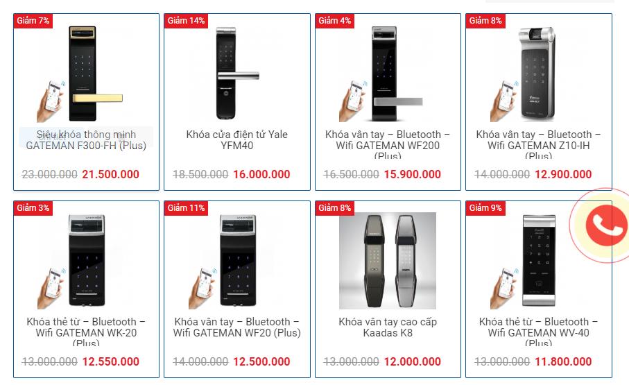 Khóa cửa điện tử giá rẻ tại Hà Nội