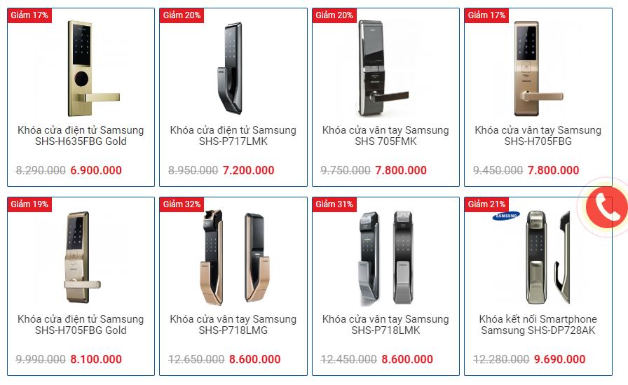 Địa chỉ mua khóa cửa điện tử tại Hà Nội