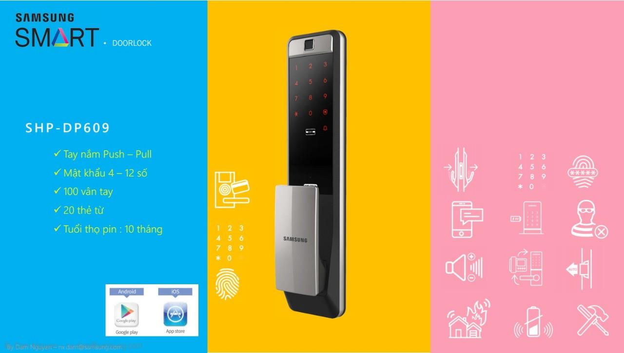 Khóa cửa thông minh Samsung SHP-DP609