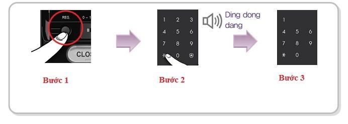 Lưu ý khi thay đổi mã số khóa cửa Samsung