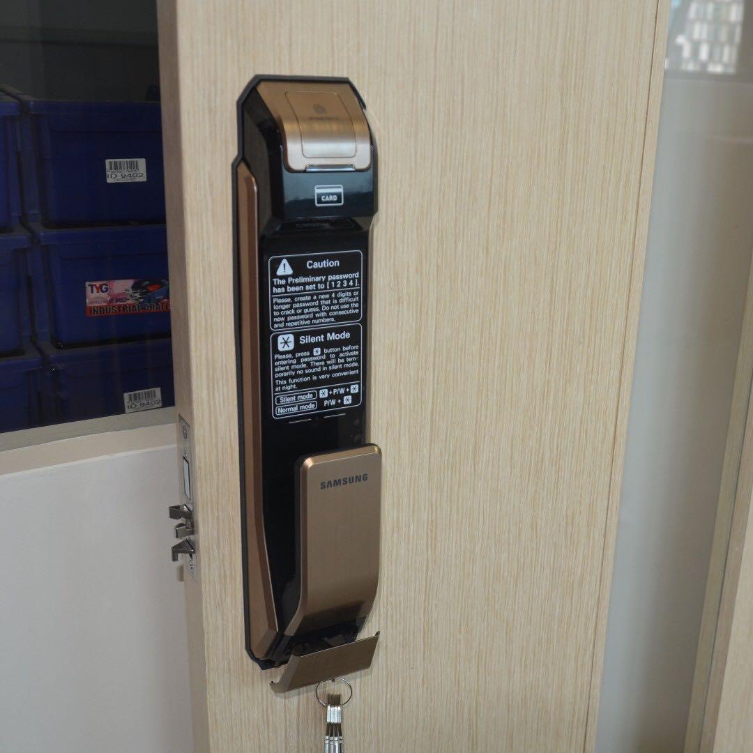 Lắp đặt khóa cửa vân tay Samsung SHS P718
