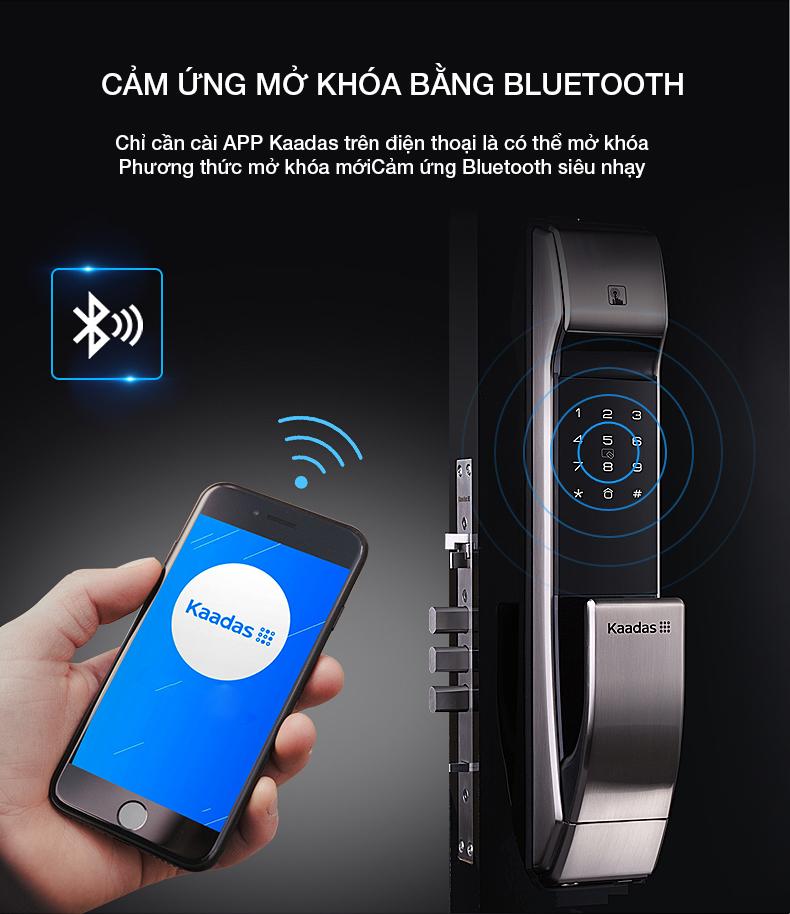 Có thể mở khóa từ xa qua Bluetooth