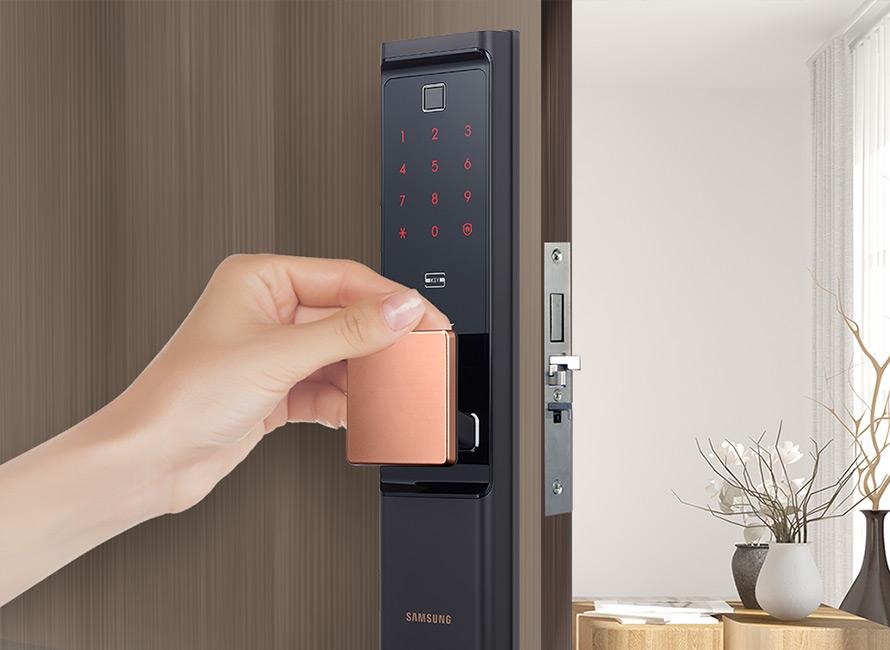Lắp khóa cửa điện tử Samsung tại Hà Nội