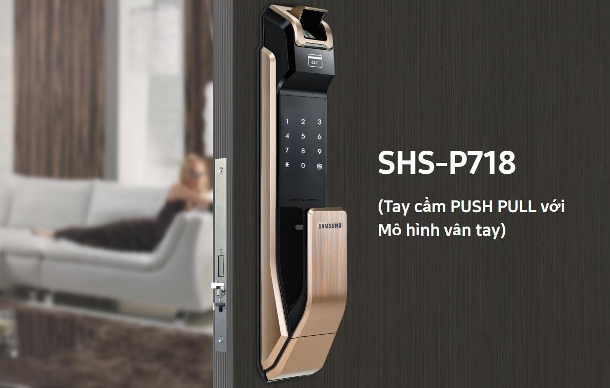 Tay nắm dạng Push – Pull trong khóa điện tử samsung