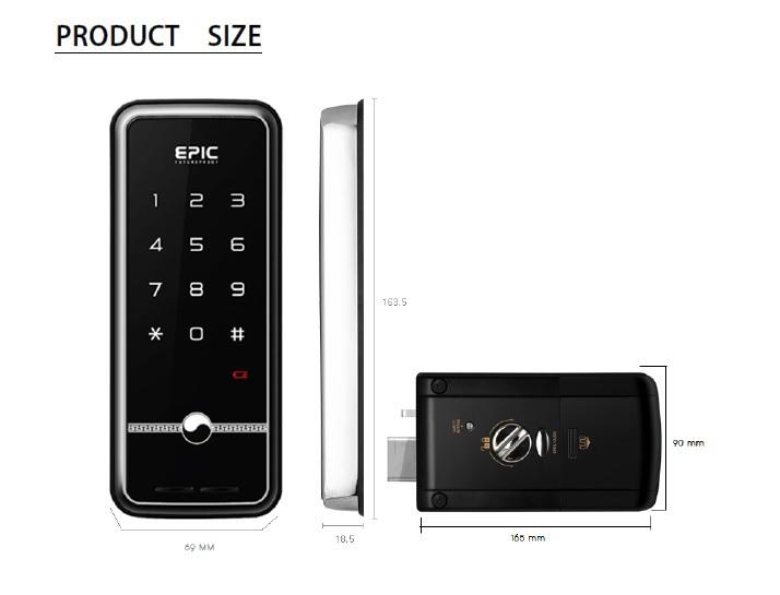 Top 3 khóa cửa điện tử Epic giá rẻ được mua nhiều nhất