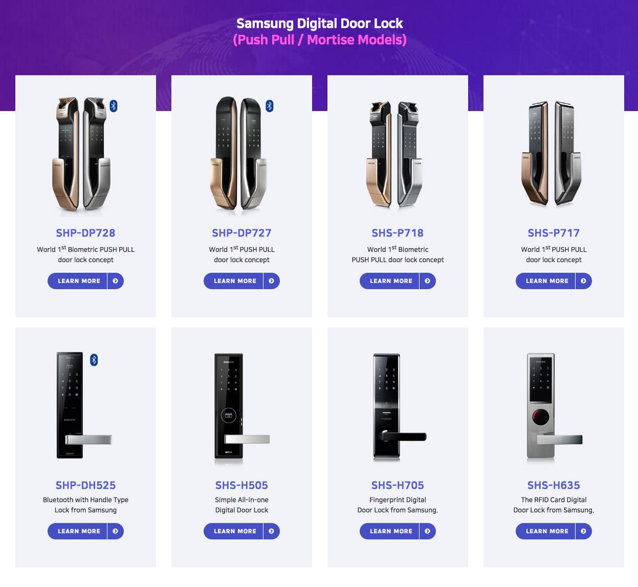 Khóa cửa điện tử Samsung chính hãng