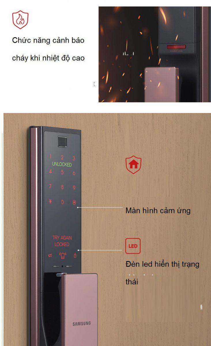 Siêu phẩm ấn tượng nhất - khóa cửa vân tay Samsung SHP-DR708