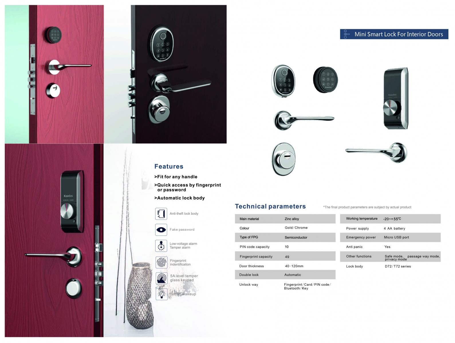 Ưu điểm của khóa cửa điện tử Kaadas cao cấp
