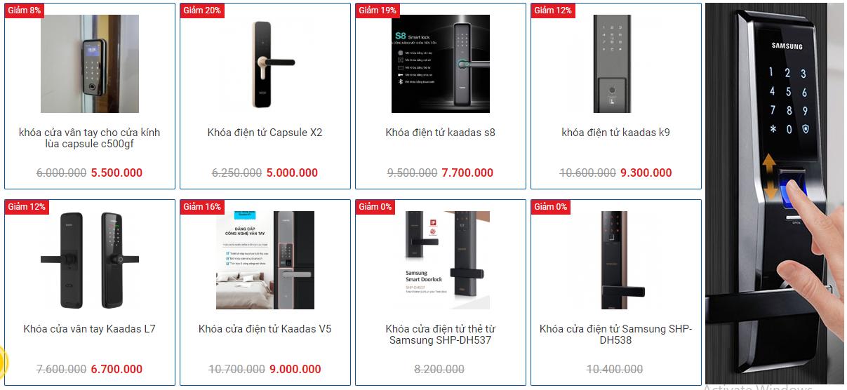 Địa chỉ cung cấp khóa điện tử chính hãng chất lượng tại Hà Nội