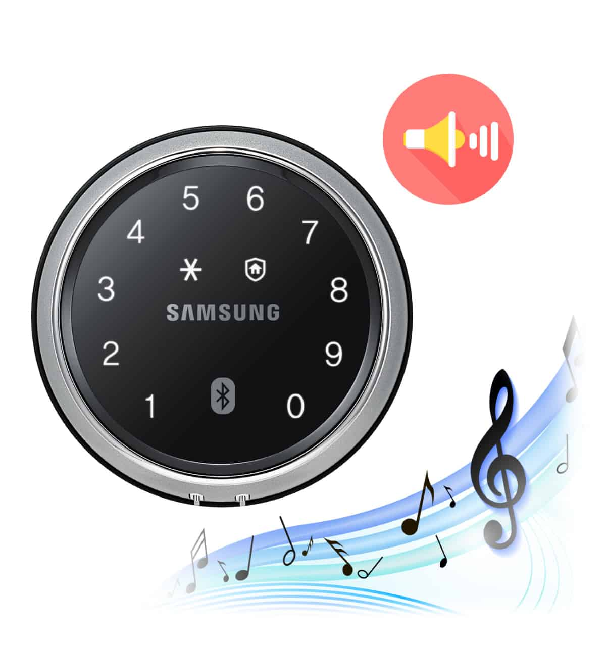 Khóa cửa điện tử Samsung SHP-DS705 nhập khẩu